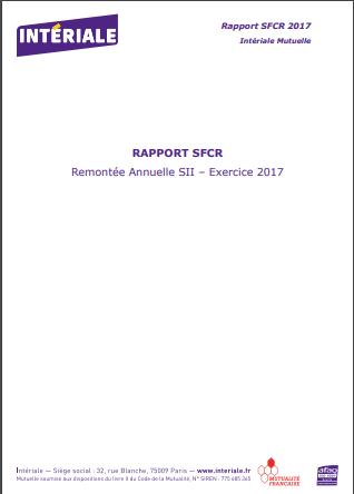 Rapport de solvabilité - 2017